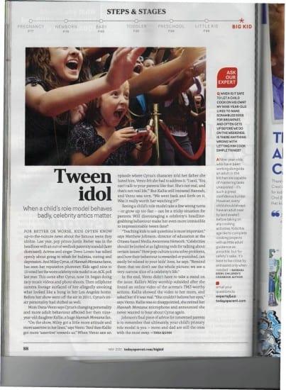 teens, tweens, idols, parenting, dana vento, parenting magazine
