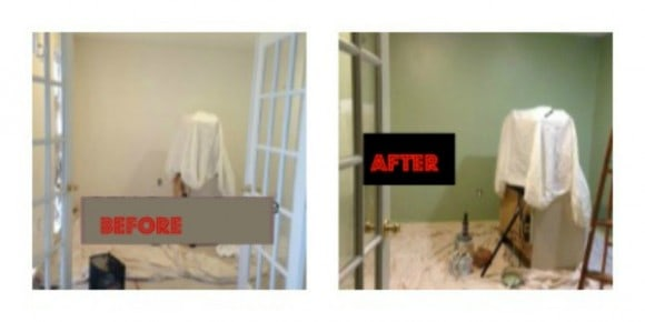 here is what we used, THE DEN -- DIY ~From White to Green, diy, painting, changing colors, refresh, paint, painting, walls, colors, dutch boy, dana vento, diy, redo, freshen, home renovation, before and after