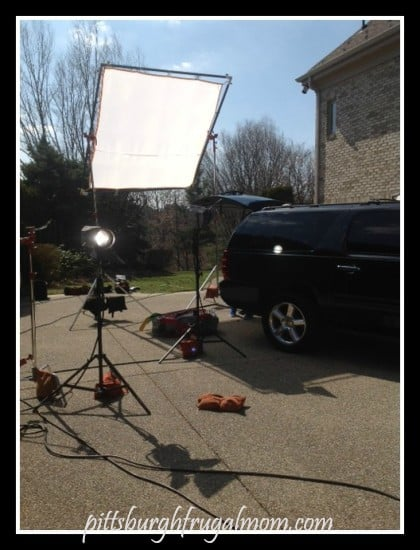 Car being photo'd for Redbook