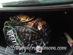 hockey bags in kia trunk