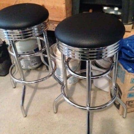 chrome pre-assembled stools, DIY Time With Chrome Swivel Stools