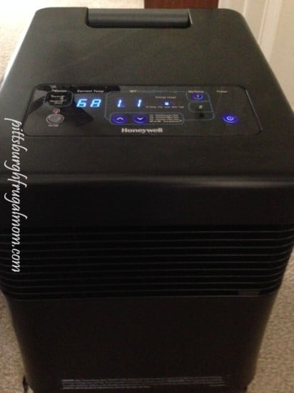 whole room infrared heater, honeywell, save money on heating, zone heating, portable heater, infrared heater, pittsburgh frugal mom, heating bill savings