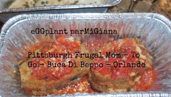 eGGplant parMiGiana,buca di beppo, florida, orlando, orlando mall, italian food, eating, dining, kids, vegetarian food, salad, kia, disney, universal