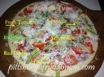 pizza, veggies, slices, cheese, olive oil, homemade pizza, crusts, asparagus, tomatoes, artichokes, pittsburgh frugal mom, hand tossed pizza, pizza hut, make pizza, dana vento, pittsburgh frugal mom pizza