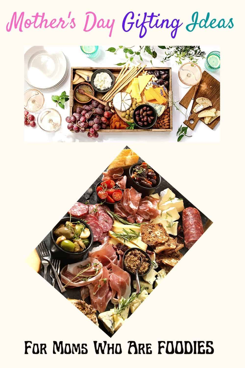 Moms Who are foodies Mothers day Charcuterie board set