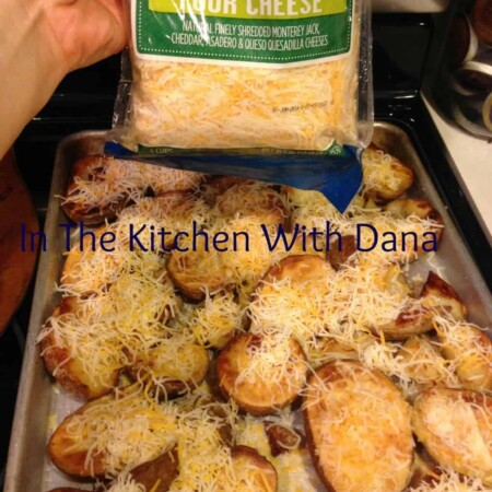 potatoes, potato skins, olive oil, cooking, baked not fried, cheese, bacon bits, dip, in the kitchen with dana, pittsburgh frugal mom, cooking, foods, foodie, ingredients, easy food, easy to prepare