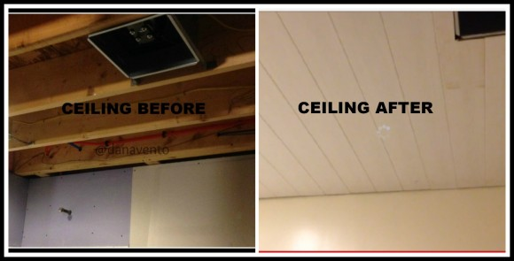 armstrong ceiling, armstrong ceiling planks, diy, diy ceiling installation, basement bathroom ceiling, armstrong ceiling in basement, DIY ceiling install, woodhaven ceiling planks for bathroom, dana vento