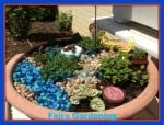 fairy gardening, how to fairy garden, outdoor, garden, planters, plants, growing part, drainage, soil, water, sun,, dana vento, michelle