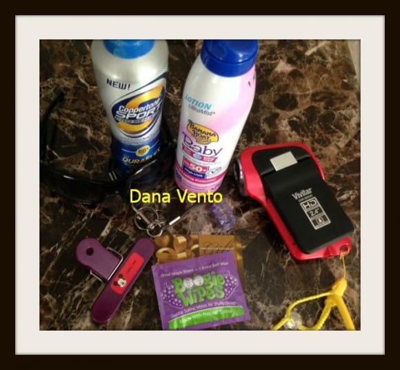 beach, packing, beach bound, travel, traveling, travel destination, vacation, myrtle beach, beaches, bags, sunscreen, glasses, mini bungee cord, underwater camera, wipes and a clip, dana vento, travel, travel blogger,