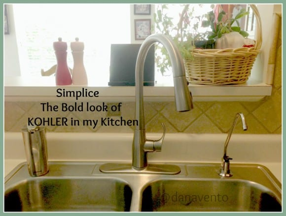 kohler, bold look of kohler, wide powerful blade, , simplice, simply simplice, DIY, sink faucet, spray head, one hole, masterclean spray surface, dirt, debris, dishes, cleaning dishes, cleaning pots, kitchen hardware, kitchen sinks, kitchen faucets, single hole or 3 hole installation, dana vento, pittsburgh frugal mom