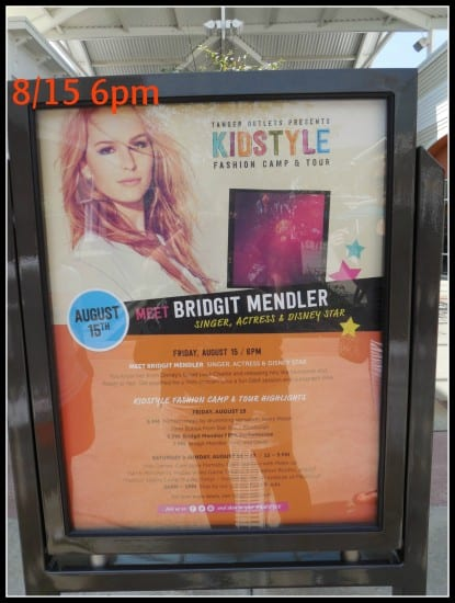 bridgit mendler, free performance, pittsburgh, tanger outlets, washington, pa