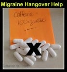 Migraine Hangover Help, migraines, headaches, pain relief, water, caffeine, ice packs, dr. dana vento
