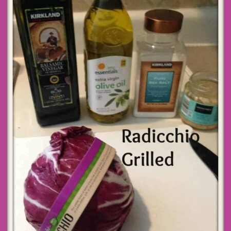 grilled radicchio, grilling, balsamic, garlic, oil, cooking, foodie, food, dana vento, frieda's produce