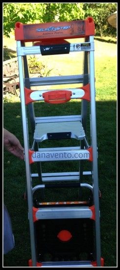 Little Giant Select Step, diy, projects, painting, extension ladder, light weight, wheels, airdeck, dana vento