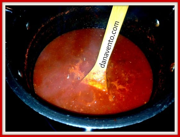 Homemade Tomato Sauce With Garden Fresh Tomatoes