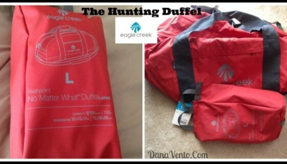 Packing Up For Hunting With Eagle Creek, hunting, outdoors, duffels, bags, clothing, change of clothes, luggage, durable, rugged, eagle creek, dana vento, fashion, travel