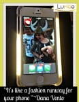 """selfie, images, photos, """"It's like a fashion runway for your phone """". tech, fashion, accessories, lighting, dana vento"""