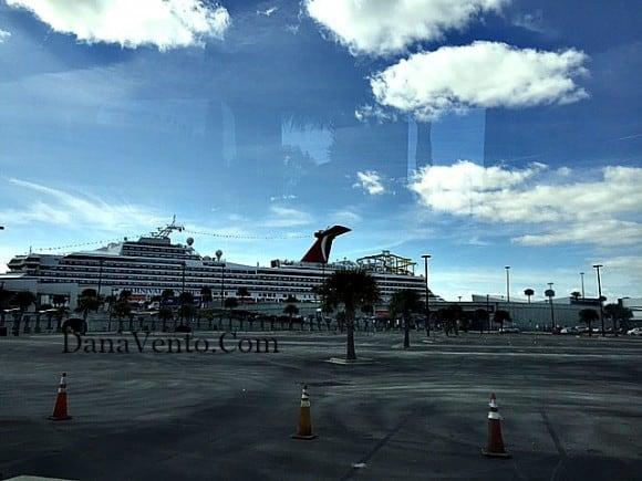 Carnival, Carnival Sunshine, Carnival Sunshine at Dock, Cruising Carnival, Carnival Funship, dana vento, travel, family, Port Canaveral, dana vento