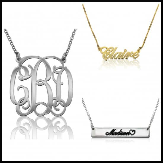 VIp Necklace, jewelry, mother's day, dana vento, fashion, fashion accessories, Mother's Day, silver, initials, name plates, dana vento