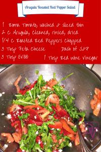 Arugula Roasted Red Pepper Salad
