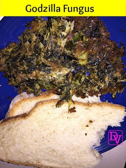 Godzilla Fungus, Recipe, Fresh, Garden, Escarole, Mint, Bread Crumbs, Bake, Boil, Garlic, Food, Foodie, Food Blogger, Dana Vento, Escarole Recipe, cooking, kitchen, Italian, Italian recipe, generational, food blog