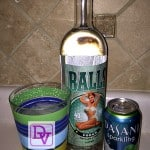 Sparkling Lime Vodka Cocktail With Balls