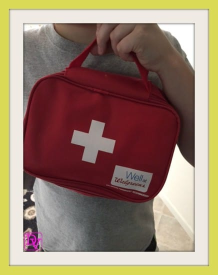 J&J Healthy Essentials, latex free, latex free summer survival kit, walgreen's, Johnson and johnson, ointment, cloth, cloth tape, gauze pads, lollipops, sanitizer, alcohol pads, summer, summer travel, travel blogger, mom of child with life threatening allergies, mom, writer, dana vento, ad, band-aid