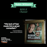 Robin Williams, REELZ Channel, Television, Comedian, Genius, entertainment, star, closure, dana vento, lifestyle expert,ad