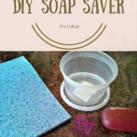 Diy Soap Saver For COllege, soap, sponge, container, easy to make, soap saver, soap tray, showers, college, dorm, shower tote, no mess, clean, easy to craft, cheap to make, diy, dana vento
