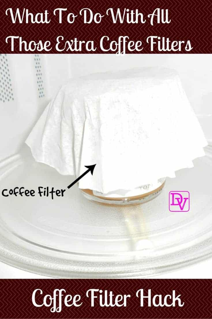 Coffee Filter Hack, Coffee, Filters, ReUse, Microwave, Spatter, Clean, Easy to Use, Cleaning, Clean up, rental home, traveling,vacation, good use, jars, containers, platers, covers, spatter proof, dana vento, travel blogger, food blogger