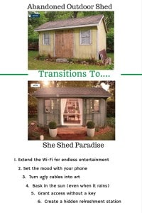 Hidden Refreshments For A #SheShed