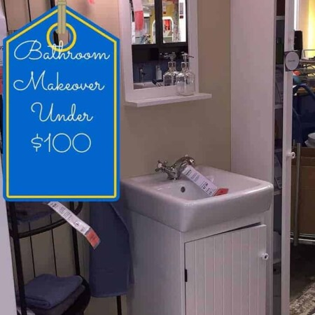 Bathroom makeover, towels, color, storage, painting, redo, quick, fast, easy, holiday, friendly. dana vento, diy blogger