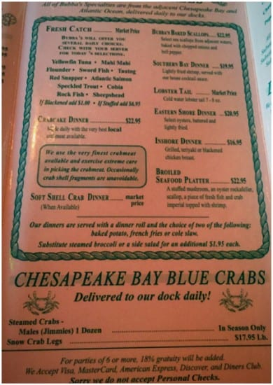 Bubba's Seafood Restaurant and Crabhouse, seafood, shellfish, dining on the water, sunsets, indoor, outdoor, seating, bar area, chicken, shrimp, crab, slaw, frieds, foodie, virginia beach, chesapeake bay, restaurant, crabhouse, dining, no allergen free dining, dana vento, ad