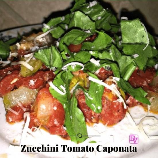 zucchini, caponata, onions, organic diced tomatoes, natural, saute, traditional italian dish, Italian, Italian Food, Italian Cooking, Vegetable Dish, Side Dish, Main Dish, Food, Food Blogger, REcipe, Recipes, Dana Vento, Dana Vento Food BLogger, Zucchini tomato recipe, food, foodie blogger, meatless meal, recipe, lent, holidays, birthday, celebrations, easy recipe, fast recipe, weeknight, meat free, no meat, veggies, fresh veggies, food writer, recipe, recipes, food writer, food blog, Italian Food Recipe