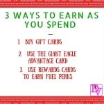 3 ways to earn as you spend, earn, spend, gift cards, fuel perks, advantage card, giant eagle, giant eagle and gift cards, gift card, gift cards, gift cards and advantage card, ad, Giant Eagle Pittsburgh, Dana