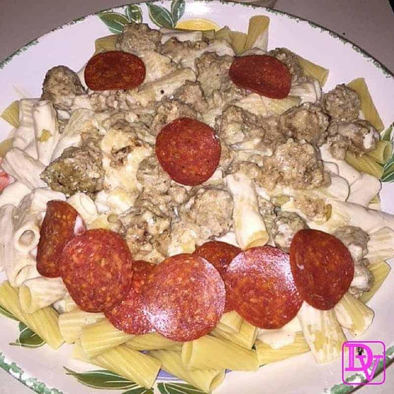 Classic Alfredo Meatball Pasta