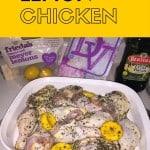 Easy Baked Lemon Chicken Recipe