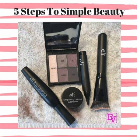 5 steps to simple beauty, make up, cosmetics, touch ups, face, beauty, all over beauty, cosmetics, simple, easy to do, facials, e.l.f, e.l.f makeup, ad