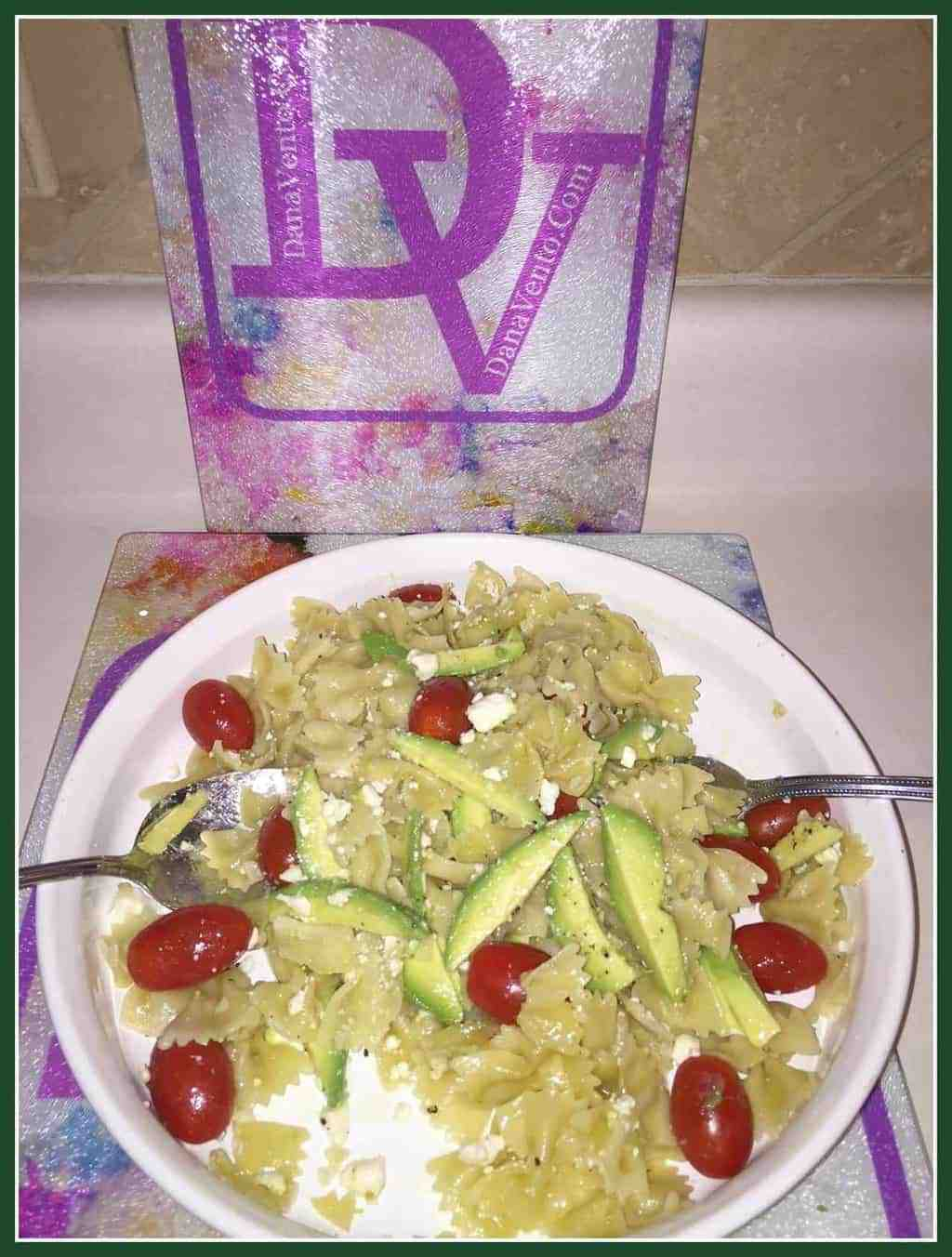Avocado and Cherry Tomato Pasta