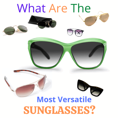 sunglasses scattered across page