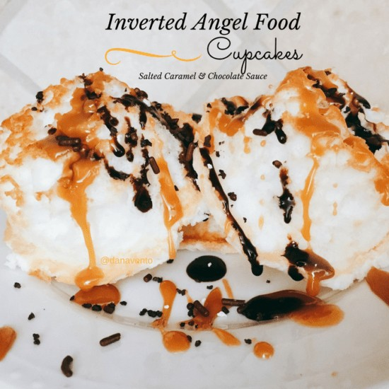 angel food cake, cupcakes, angel food cakes, drizzle, caramel sauce, chocolate sauce, cupcakes, mini cake, cuties, cupcake pan, recipe, recipes, food, foodies, cooking, food blogger, dana vento, fast, easy, angel food cake, angle food cakes,