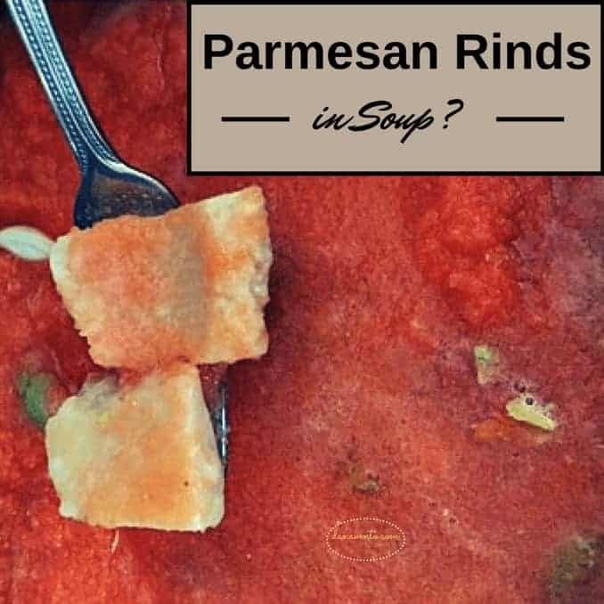 Parmesan Rind above soup