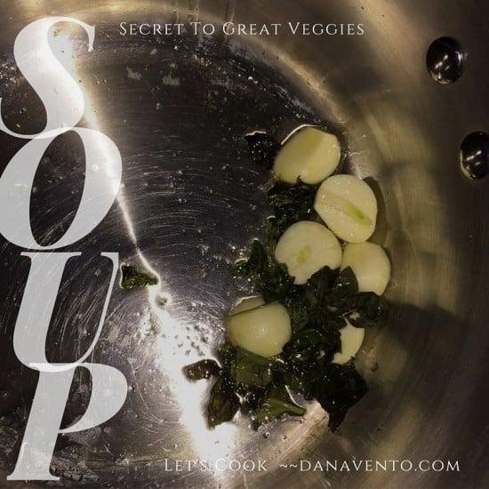 secret, veggies, vegetables, food, foodie, food blogger, soup, sweating veggies, vegetable secret, cooking veggies, dana vento, chef