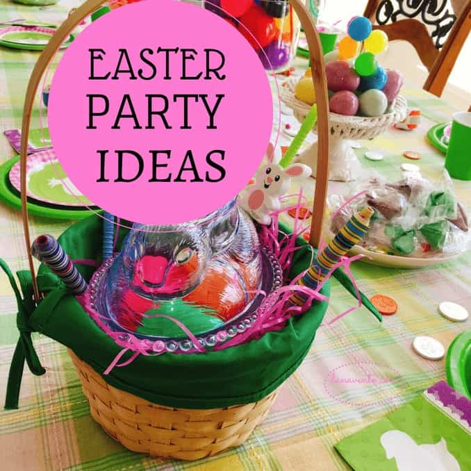 Easter Party ideas a basket filled with treats