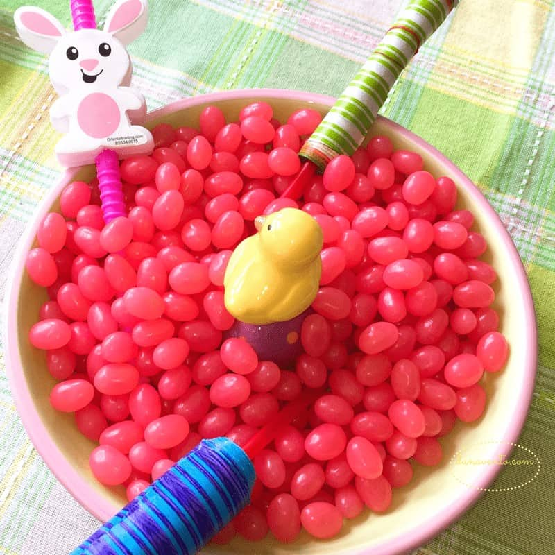 easter party ideas where colorful decor becomes party favors!
