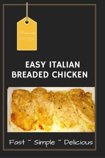 Easy Italian Breaded Chicken Breasts