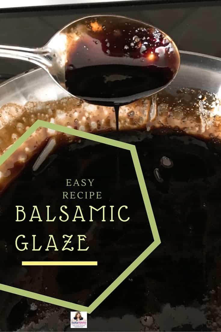 Balsamic Glaze homemade in pan