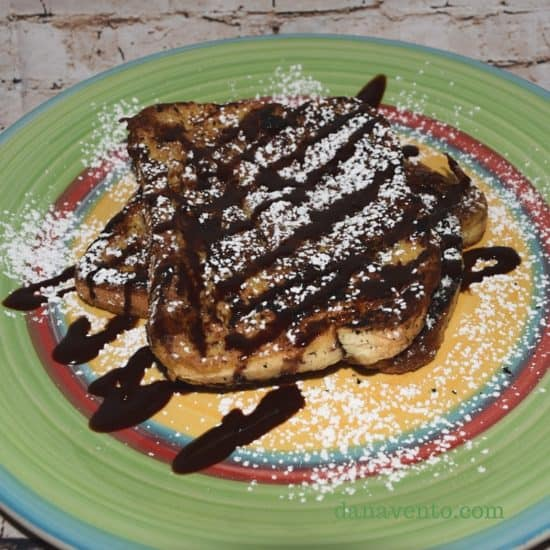 caramel, caramel and chocolate, chocolate drizzle, recipe, recipes, food writer, food blogger, breakfast, lunch, dinner, fast, snack, caramel macchiato creamer, caramel french toast, caramel and chocolate french toast, powdered sugar, caramel macchiato chocolate french toast,
