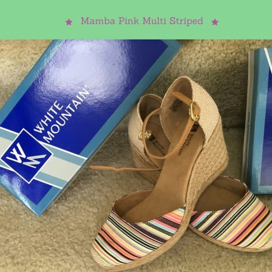 5 pairs of shoes every woman should own, closet, shoes, shoe fashion, shoes, summer fashion, wedges, flats, cushion, buckles, elastic, white mountain shoes, white mountain heritage collection, cisco, light gold glitter, pink multi stripe, black sparkle, mamba, mamba navy, shoes, espadrille, shoes for summer, basic, shoeanista, shoe obsessed, dana vento, 5 Summer Shoes Every Woman Should Own