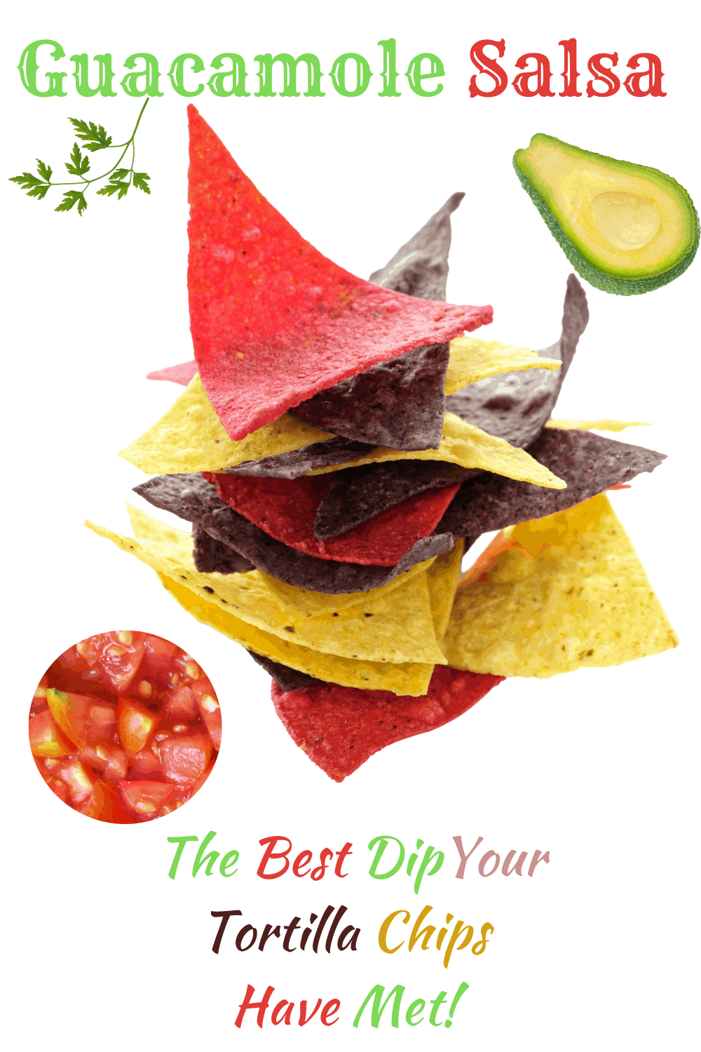 chips and ingredients for guacamole